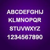 Glitch geplaatste brieven Grungevector verontruste doopvont Royalty-vrije Stock Foto's