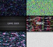 Glitch het lawaai van het Textuurpixel Achtergrond van het Scherm de Digitale VHS van testtv Reeks van de Video van de Foutencomp royalty-vrije illustratie