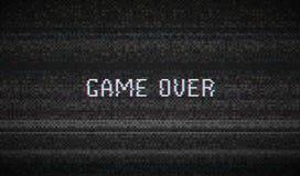 Glitch het lawaai van het Textuurpixel Achtergrond van het Scherm de Digitale VHS van testtv spel over De Video van de foutencomp royalty-vrije illustratie