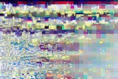 Glitch pixel digital pattern noise,  artifact. Glitch pixel digital pattern noise vintage background,  artifact royalty free illustration