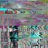Glitch psychedelic background. Old TV screen error. Digital pixel noise abstract design. Computer bug. Television signal. Fail. Technical problem grunge Stock Photo