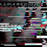 Glitch psychedelic background. Old TV screen error. Digital pixel noise abstract design. Computer bug. Television signal. Glitch psychedelic illustration. Old TV royalty free stock photos