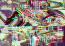 Glitch psychedelic background. Old TV screen error. Digital pixel noise abstract design. Photo glitch. Television signal Royalty Free Stock Photos