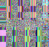 Glitch psychedelic background. Old TV screen error. Digital pixel noise abstract design. Photo glitch. Television signal Royalty Free Stock Image