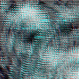 Glitch psychedelic background. Old TV screen error. Digital pixel noise abstract design. Photo glitch. Television signal Stock Images