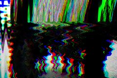 Glitch psychedelic background. Old TV screen error. Digital pixel noise abstract design. Photo glitch. Television signal. Fail. Technical problem grunge royalty free stock images