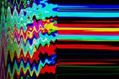 Glitch psychedelische achtergrond Oude TV-het schermfout Het digitale abstracte ontwerp van het pixellawaai Fotoglitch Televisies Royalty-vrije Stock Fotografie