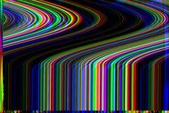 Glitch psychedelische achtergrond Oude TV-het schermfout Het digitale abstracte ontwerp van het pixellawaai Fotoglitch Televisies Stock Fotografie