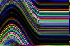 Glitch psychedelische achtergrond Oude TV-het schermfout Het digitale abstracte ontwerp van het pixellawaai Fotoglitch Televisies Royalty-vrije Stock Afbeeldingen