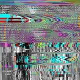 Glitch psychedelische achtergrond Oude TV-het schermfout Het digitale abstracte ontwerp van het pixellawaai Computerinsect Televi Stock Foto