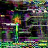 Glitch psychedelische achtergrond Oude TV-het schermfout Het digitale abstracte ontwerp van het pixellawaai Computerinsect Televi Royalty-vrije Stock Foto's