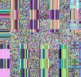 Glitch psychedelische achtergrond Oude TV-het schermfout Het digitale abstracte ontwerp van het pixellawaai Fotoglitch Televisies Royalty-vrije Stock Afbeelding