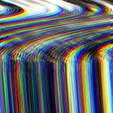 Glitch psychedelische achtergrond Oude TV-het schermfout Het digitale abstracte ontwerp van het pixellawaai Fotoglitch Televisies Stock Foto's