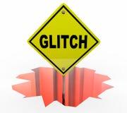 Glitch SIgn Word Hole Problem Error Fix Royalty Free Stock Image