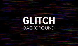 Glitch style dark abstract background. Distorted pixels vector wallpaper.  royalty free illustration