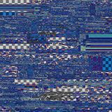 Glitch texture. Computer screen error. Digital pixel noise abstr royalty free illustration