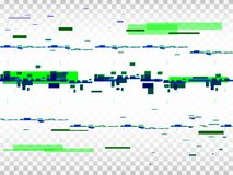 Glitch transparent background. Digital pixel noise. Glitched shapes. Absract distortion effect. Vector illustration.  Royalty Free Stock Images