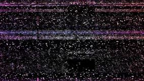 Glitch TV screen. Of broken LCD display or TV, with horizontal strips. black and white background realistic flickering, analog vintage TV signal with bad stock video footage