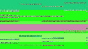 Glitch TV Screen. Green Background Royalty Free Stock Image