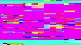 Glitch TV Screen. Purple Background Stock Photography