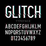Glitch typeface Royalty Free Stock Image