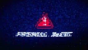 Glitch van de het Lawaaikramp van de firewall de Waakzame Tekst Digitale Vervormingseffect Animatie van de Foutenlijn royalty-vrije illustratie