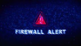 Glitch van de het Lawaaikramp van de firewall Waakzame Tekst Digitale Vervormingseffect Foutenanimatie vector illustratie