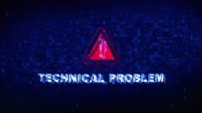 Glitch van de het Lawaaikramp van de technisch Probleemtekst Digitale Vervormingseffect Foutenanimatie vector illustratie