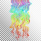 Glitch waves background art. Digital abstract pixel curvy lines noise effect. Stock Illustration