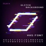 Glitched Abstract Ontwerp Vervormde Glitch Stijl Retro Achtergrond VHS - Banner, Affiche, Vlieger, Brochure Vecto royalty-vrije illustratie