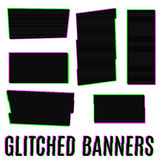 Glitched banners Stock Photo