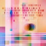 Glitched Data Vibrant Texture Illustration vector illustration