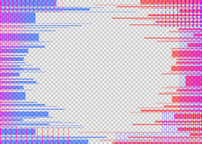 Glitched horizontal stripes. Colorful night lights. Digital signal error. Abstract background for a poster, cover Stock Images