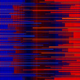 Glitched horizontal stripes. Colorful night lights. Digital signal error. Abstract background for a poster, cover Royalty Free Stock Images