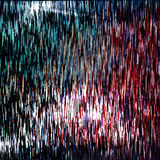 Glitched lines And Colorful Rectangular Shapes. Bunch Of Collapsing Big Data. Signal Error In The Dark Digital Space. Abstract Bac Royalty Free Stock Photo
