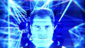Glitchingsmening van het defect zijn kunstmatige intelligentie in viewport stock video