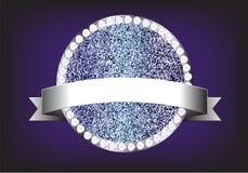 Glitt искры диаманта ярлыка элементов дизайна вектора Стоковое Изображение