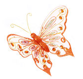 Glitte butterfly, glitter Christmas decorations is Stock Photo
