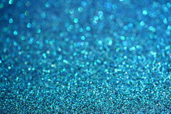 Glitter. An abstract background - the texture of blue glitter Stock Photography