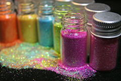 Glitter. An assortment of colorful glitter Royalty Free Stock Images