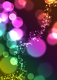 Glitter. Ing disks are featured in an abstract background illustration Stock Photo