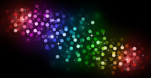 Glitter Abstrat Lights for Flyers Background Stock Image