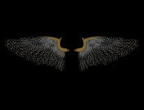 Glitter angel wings Stock Image