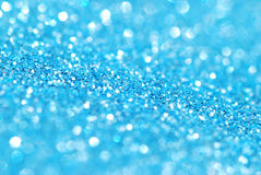 Glitter background. Closeup image of blue glitter wrapping paper Royalty Free Stock Photos