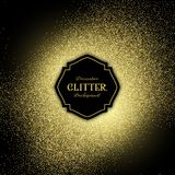 Glitter background. Decorative background with gold glitter Stock Photos