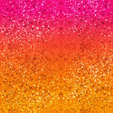 Glitter background in gold, red, pink and yellow. Abstract digital art textured backdrop. stock photo