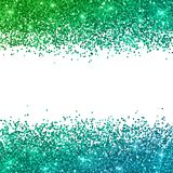 Glitter background with green blue color effect. Vector Stock Image