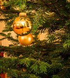 Glitter Ball on Christmas Tree Royalty Free Stock Images