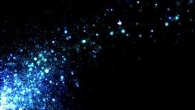 Glitter Blue Blowing Away stock video