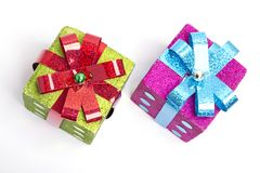 Glitter boxes Stock Images